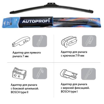 Щетки стеклоочистителя Autoprofi Щётка стеклоочистителя , UD-20 - фото 10
