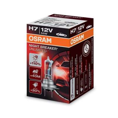Лампа H7 55W 12V PX26D  10x10x1 OSRAM Xenarc Night  Breaker Unlimited