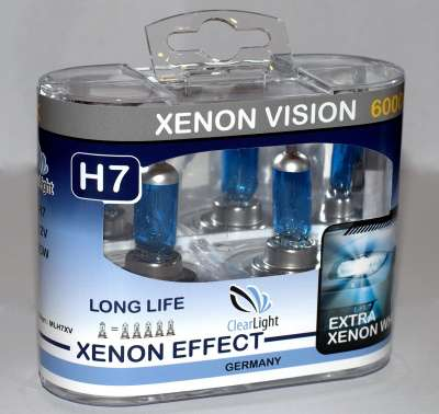 Лампа H7 (Clearlight) 12V-55W XenonVision (2 шт.)